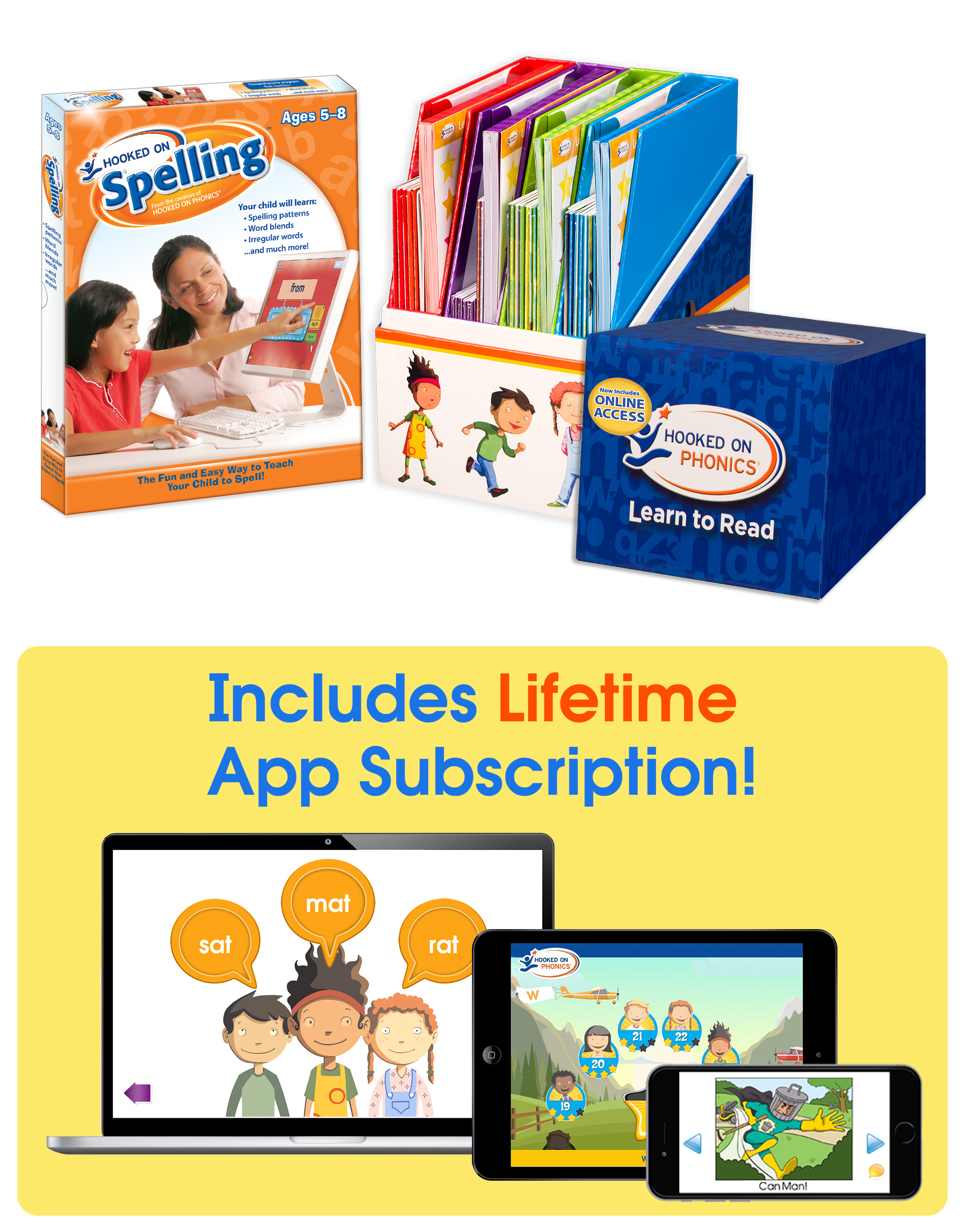 The Ultimate Learn To Read Bundle With Hooked On Spelling Lifetime