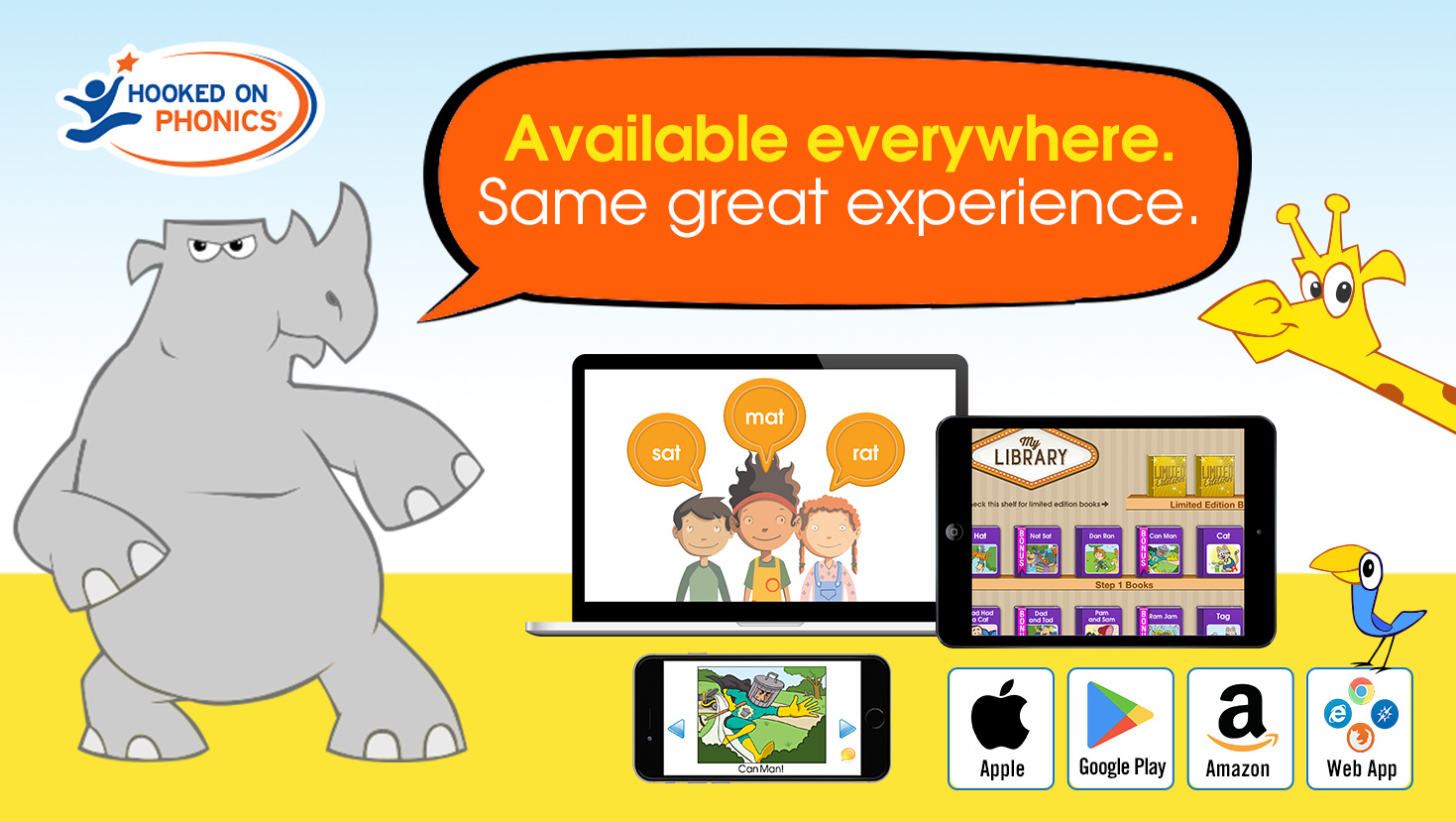 The #1 Learn to Read App! | Hooked on Phonics